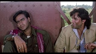 Ajay Devgn Asks Saif To Shut Up | Kachche Dhaage Movie Scene
