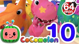 Dinosaur Number Song | + More Nursery Rhymes & Kids Songs - ABCkidTV
