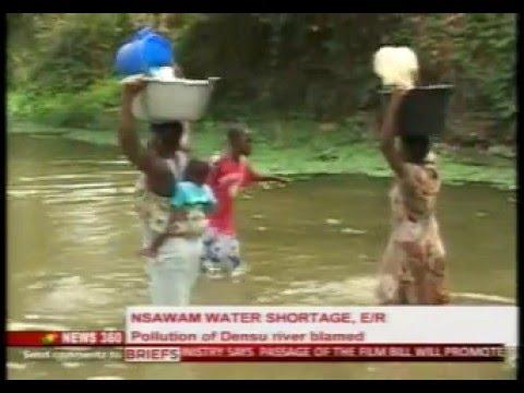News360 - Nsawam water shortage blamed on Densu river pollution -  9/2/2016