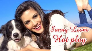 sunny+leone+HOT+PLAY+with+DOG