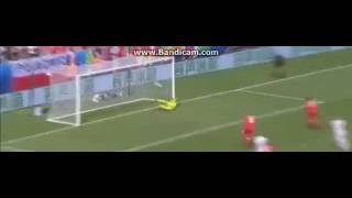 Shakiri goal vs Poland Amazing goal EURO2016