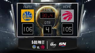 Warriors @ Raptors LIVE Scoreboard - Join the conversation and catch all the action on #NBAonABC!