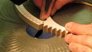 Cutting Wood Gear & Clock Wheel Teeth