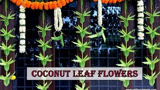 How to make Coconut leaf Toran: Flower type