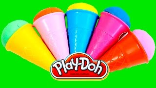 Play-Doh Ice Cream Cone Surprise Eggs Hello Kitty Dora Angry Birds  Little Pony