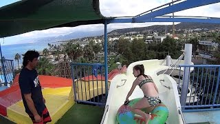 Young Madam on the Water Slide at Star Beach