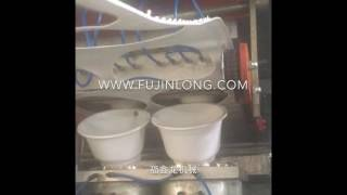 Plastic flower pot making machine