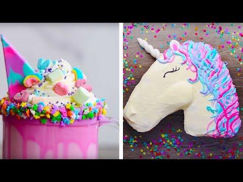 10 Amazing Unicorn Themed Easy Dessert recipes DIY Homemade Unicorn Buttercream Cupcakes & More