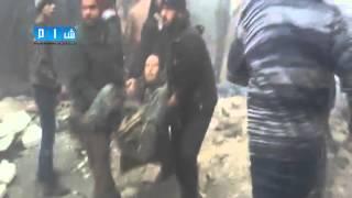 شام ريف ادلب الناجية مجزرة مروعة بحق المدنيين جراء قصف قوات الأسد 15 2 2015