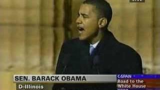 Barack Obama Announces For President