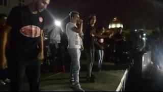 حسين غاندي يغني مهرجان ياغزال الضرب الاحمر لايف  من حفله اكاديميه الشروق