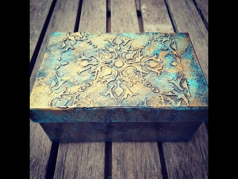 Diy caja repujada con obleas box embossed with wafers - Reciclar marmol ...