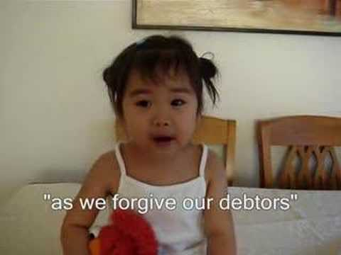 The Lord's Prayer by 2-year Old