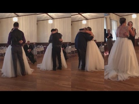 Xxx Mp4 Bride Who Lost Dad To Cancer Sobs As Guests Step In For Father Daughter Dance 3gp Sex