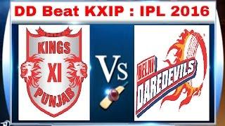 IPL 2016: Delhi Daredevils Beat Kings XI Punjab by 8 Wickets