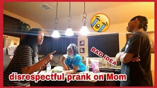 Disrespectful prank on mom (bad idea)😆