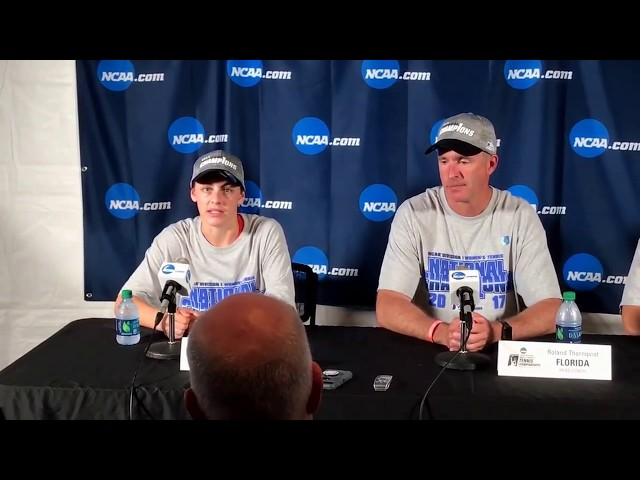 Florida's NCAA Championships postmatch presser, part 1 of 2