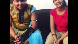 baalveer (devjoshi) and maher (anushka sen)sing 2016