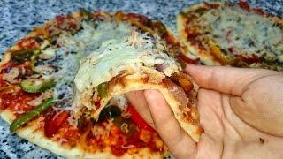 بيتزا هت سريعه و  سهلة  في المقلاة