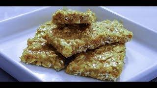 طرز تهیه پروتئین بار (اسنک پروتئین) در منزل | Homemade Protein Bar Snack Recipe - Eng Subs