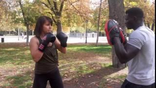 Female friendly boxing and fitness in Retiro Park, Madrid