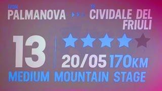 Palmanova - Cividale del Friuli - 13a tappa Giro d'Italia 2016