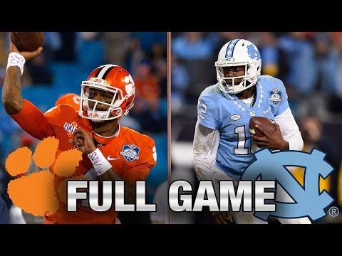 Clemson vs. North Carolina Full Game 2015 ACC Football Championship