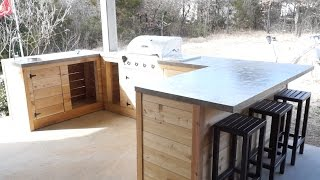 DIY Modern Outdoor Kitchen and Bar   Modern Builds   EP. 21