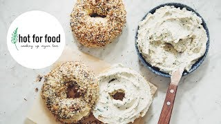 EVERYTHING BAGELS WITH HERB & GARLIC CREAM CHEESE (VEGAN) | hot for food