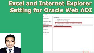 Excel and Internet Explorer Setting for Oracle Web ADI | Oracle Report Generate at Excel