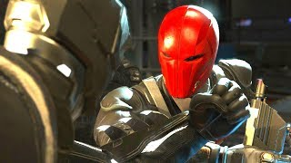 Injustice 2 - Batman Vs Red Hood  - All Intro Dialogue/All Clash Quotes, Super Moves