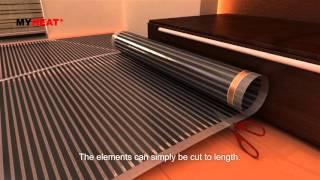MyHeat underfloor heating - carbon film installation