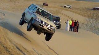 Sand Dune Jumping in Qatar - تطير في العديد 01/01/2016