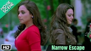 Narrow Escape - Movie Scene - Kabhi Alvida Naa Kehna - Shahrukh, Rani, Preity