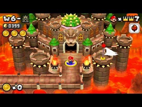New Super Mario Bros 2 World 6 Final Castle