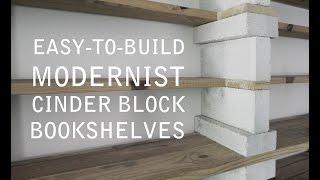 Cinder Block Bookshelves (That Actually Look Good!)