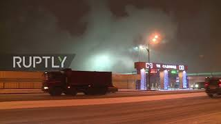 Russia: Firefighters battle Moscow market blaze, 40 evacuated
