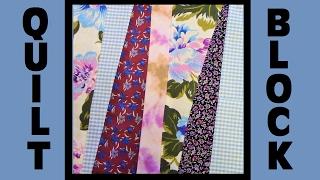 Quilt Block Party - Block 1: Wonky Stripes - Crazy Quilt Block Tutorial