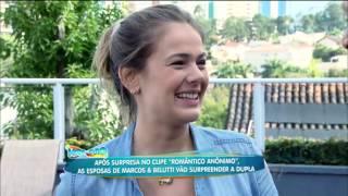 Marcos e Belutti ganham homenagem das mulheres na Hora do Faro