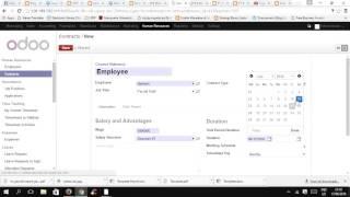 Odoo simulation - HR Payroll