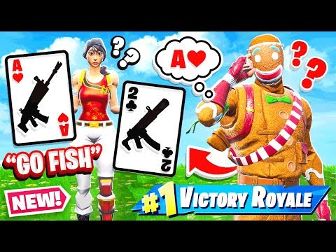 GO FISH Card Game NEW Game Mode Fortnite Battle Royale