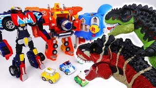 Go Go Carbot Megabold Beatrun, Rescue Center is Under Attack by Dinosaurs~!