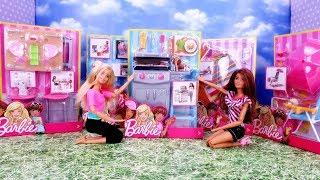 Mega Unboxing Barbie 🎁 Zestawy Wypoczynkowe Grill Hamak mebelki dla lalek 🎁 Otwieramy i bawimy się