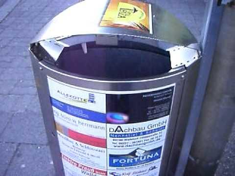 Sprechender Mülleimer in Wiesloch-Walldorf Bf. Irgendwie Sinnlos / Speaking garbage pail