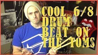 Drum Beat On The Toms In 6/8 - DRUM LESSON #126