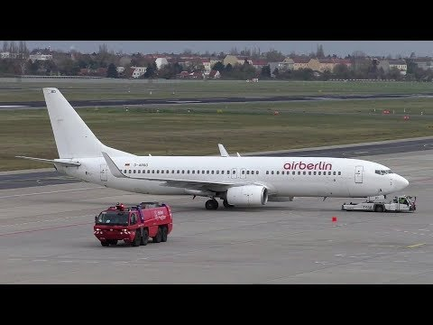Niki Boeing 737-86J D-ABBD Pushback + Takeoff at Berlin Tegel Airport