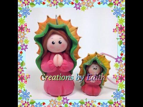 Virgen de Guadalupe tutorial en porcelana fria o pasta de goma