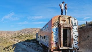 SNEAKING INTO A DESERTED TRAIN!