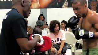 Chris Eubank Jr | At The Mayweather Gym