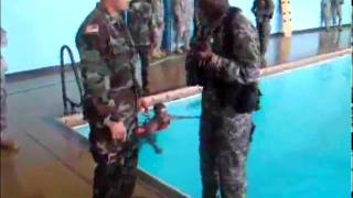Military Training This Dude Cant Swim